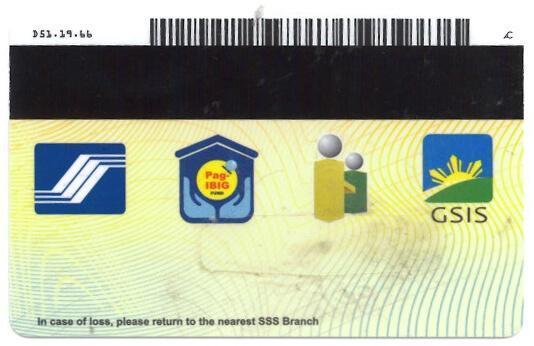 SSS ID - Back