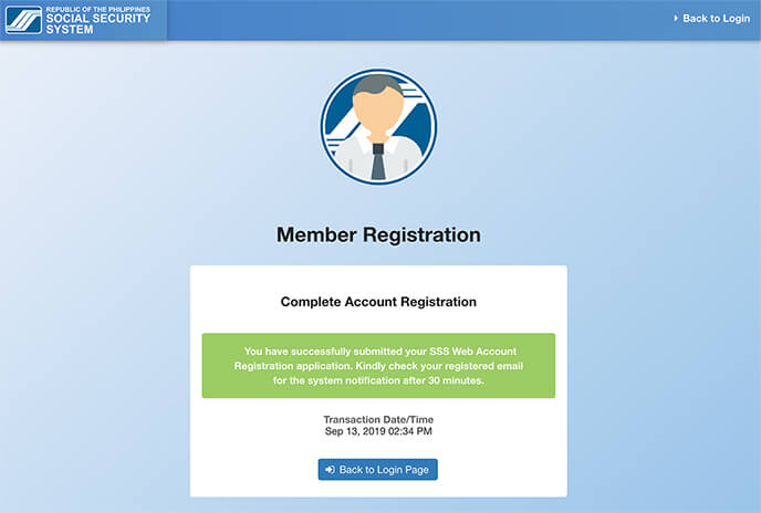 Complete Account Registration